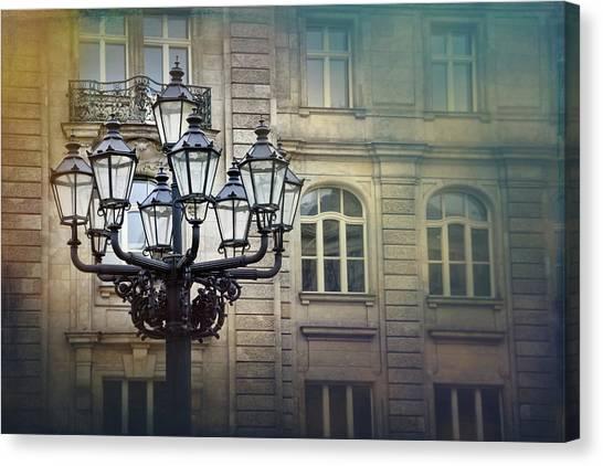 Streetlight Canvas Print - Vintage Streetlamp In Berlin  by Carol Japp