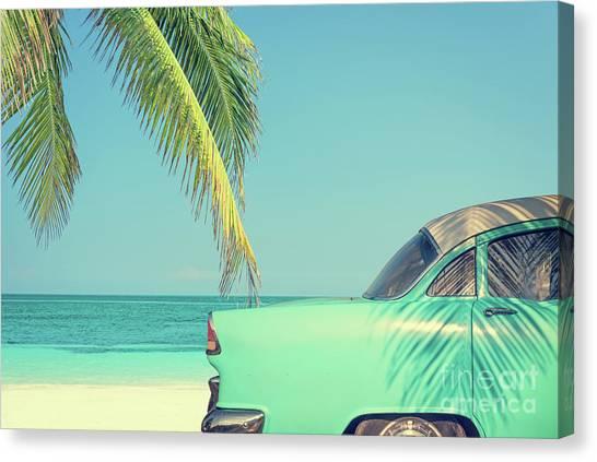Cuba Canvas Print - Vintage Summer by Delphimages Photo Creations