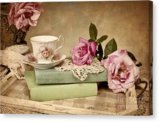 Vintage Tea Canvas Print