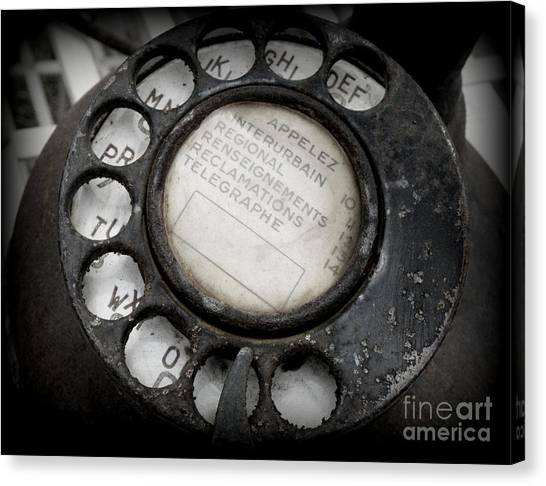 Vintage Telephone Canvas Print