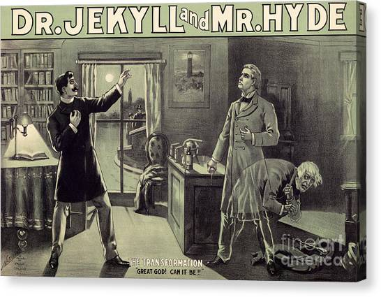 1880s Canvas Print - Vintage Theater Poster For A Performance Of Dr Jekyll And Mr Hyde In London by English School
