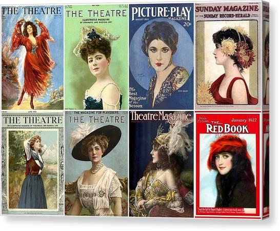 Vintage Theatre Magazine Covers Canvas Print
