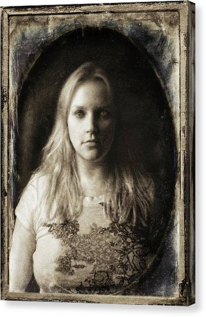 Vintage Tintype Ir Self-portrait Canvas Print
