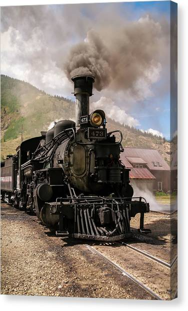 Vintage Train Engine Canvas Print by K Pegg