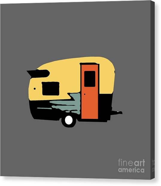 Ham Canvas Print - Vintage Travel Camper Transparent by Edward Fielding