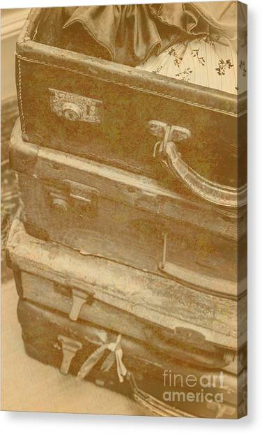 Timeworn Canvas Print - Vintage Travel Stack by Jorgo Photography - Wall Art Gallery