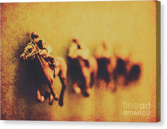 Race Horses Canvas Print - Vintage Trots by Jorgo Photography - Wall Art Gallery