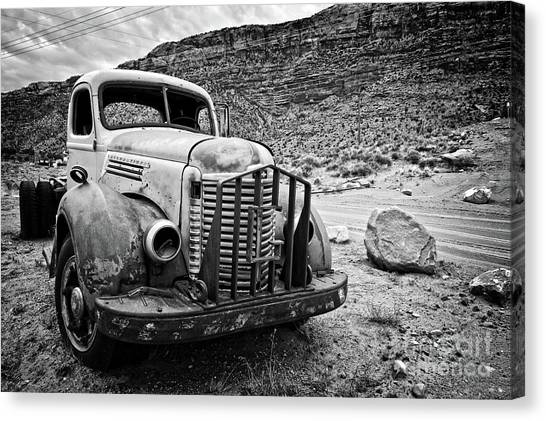 Rusty Truck Canvas Print - Vintage Truck by Delphimages Photo Creations