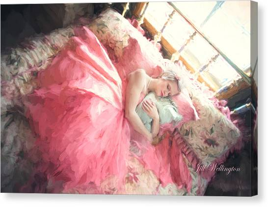 Vintage Val Bedroom Dreams Canvas Print