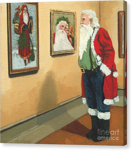 Vintage Victorian - Museum Santa Canvas Print by Linda Apple