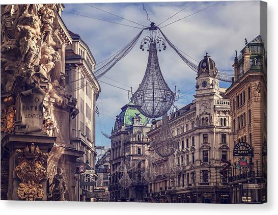 Baroque Art Canvas Print - Vintage Vienna by Carol Japp