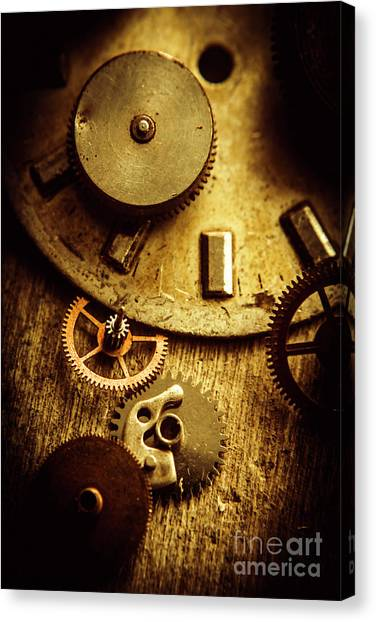 Repairs Canvas Print - Vintage Watch Parts by Jorgo Photography - Wall Art Gallery