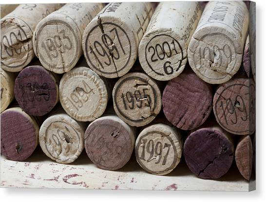 Vintage Wine Corks Canvas Print