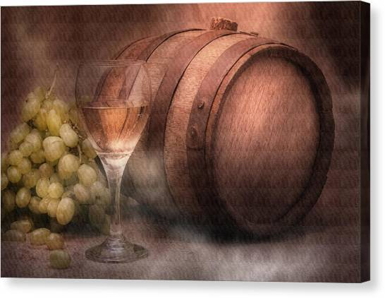 Keg Canvas Print - Vintage Wine by Tom Mc Nemar