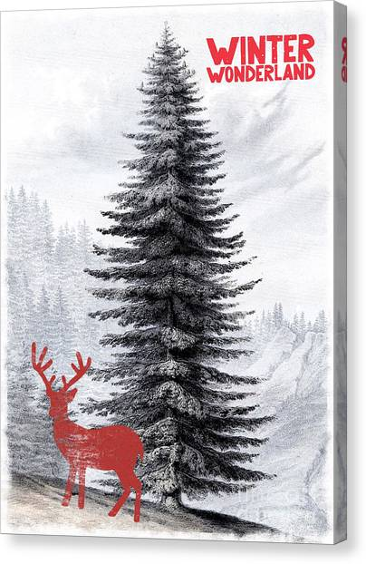 Canvas Print - Vintage Winter Wonderland by Amanda Lakey