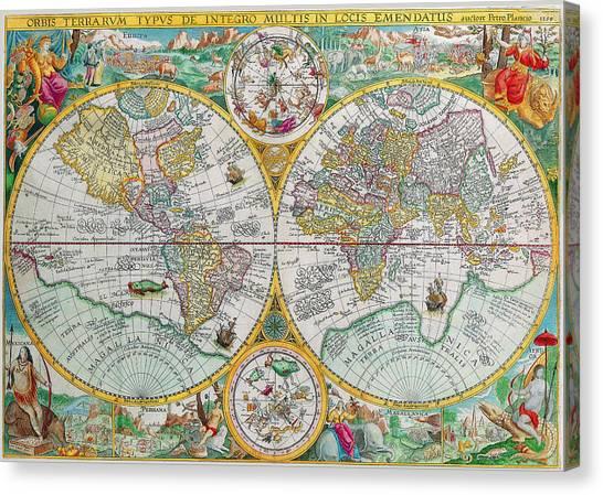 Petrus canvas prints page 5 of 6 fine art america petrus canvas print vintage world map by peggy collins gumiabroncs Images