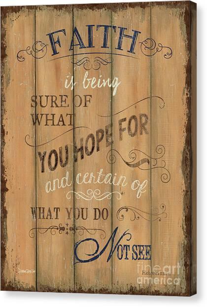 See Canvas Print - Vintage Wtlb Faith by Debbie DeWitt