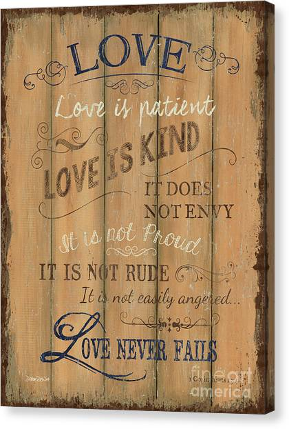 Old Canvas Print - Vintage Wtlb Love by Debbie DeWitt