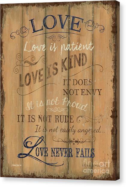Holy Bible Canvas Print - Vintage Wtlb Love by Debbie DeWitt