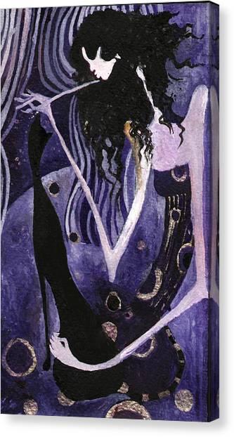 Viola And Chibi Canvas Print