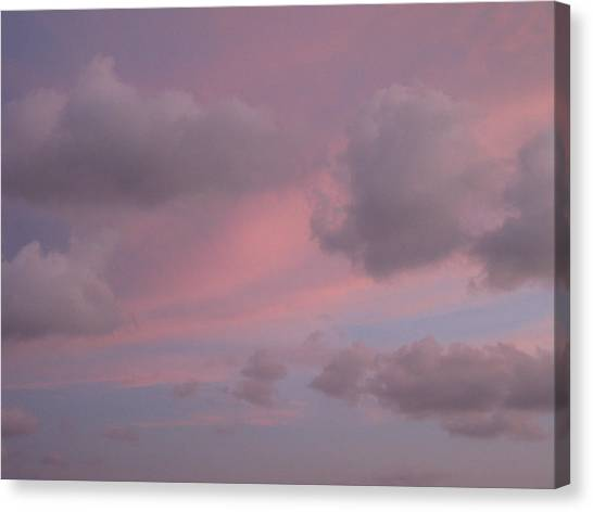 Violet Cloud Formation 1 Canvas Print