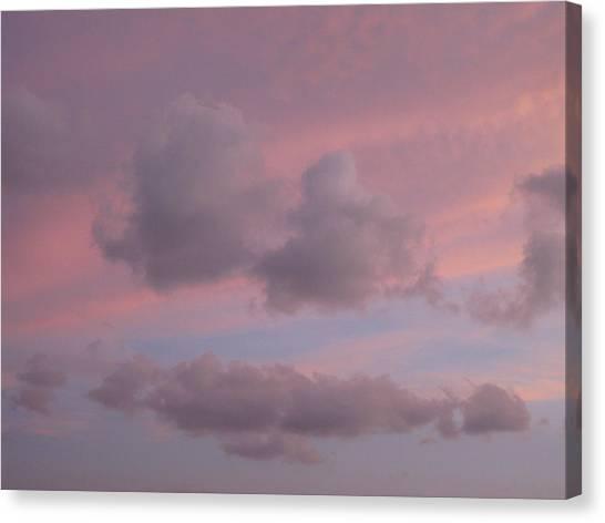 Violet Cloud Formation 2 Canvas Print