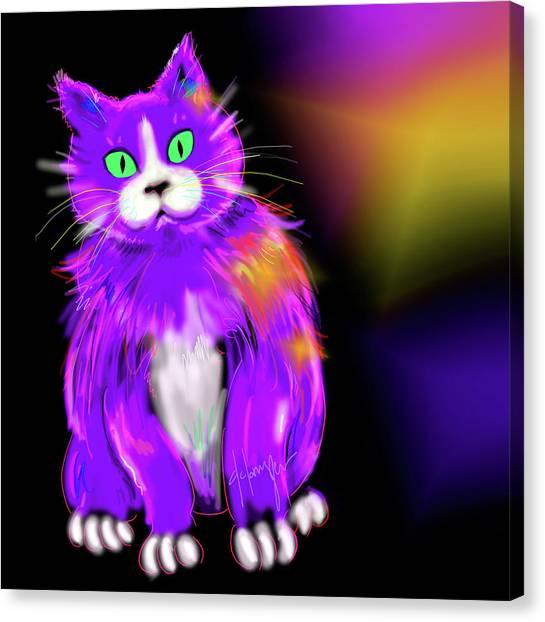Violet Dizzycat Canvas Print
