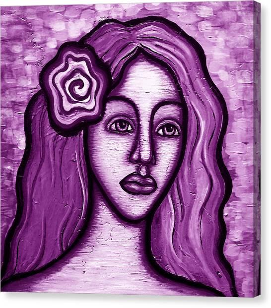 Violet Lady Canvas Print by Brenda Higginson