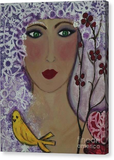 Violet Queen Canvas Print