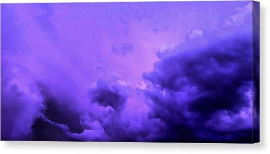 Rainclouds Canvas Print - Violet Storm by Krissy Katsimbras
