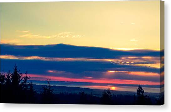 Violet Sunset Canvas Print