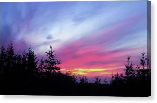 Violet Sunset II Canvas Print