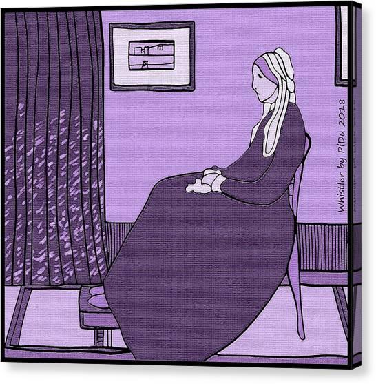 Violet Whistler's Mother Canvas Print