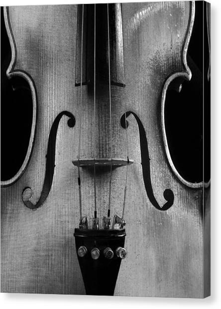 Violin # 2 Bw Canvas Print