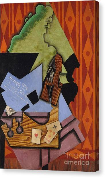Pablo Picasso Canvas Print - Violin And Playing Cards On A Table, 1913 by Juan Gris