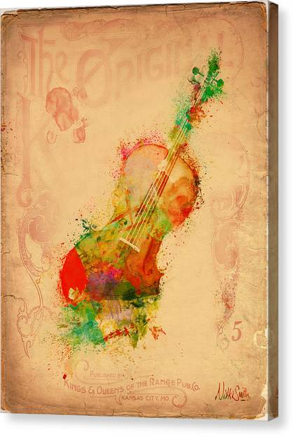 Guitar Picks Canvas Print - Violin Dreams by Nikki Marie Smith