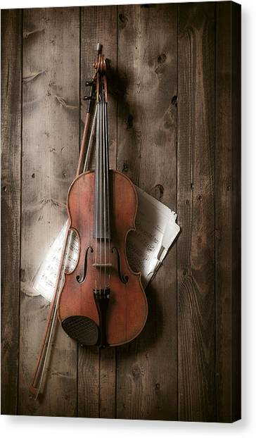 Music Canvas Print - Violin by Garry Gay