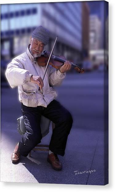 Violin Guy Canvas Print