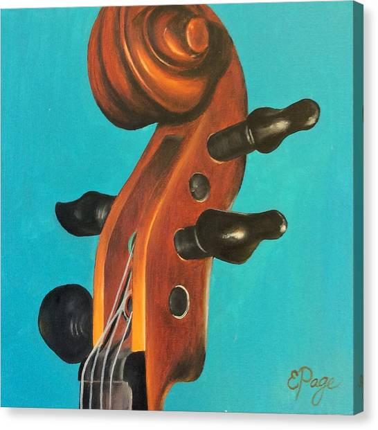 Violin Head Canvas Print