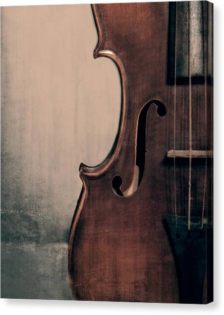 Violins Canvas Print - Violin Portrait  by Emily Kay