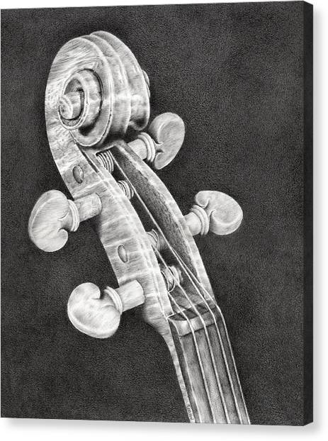 Violins Canvas Print - Violin Scroll by Remrov
