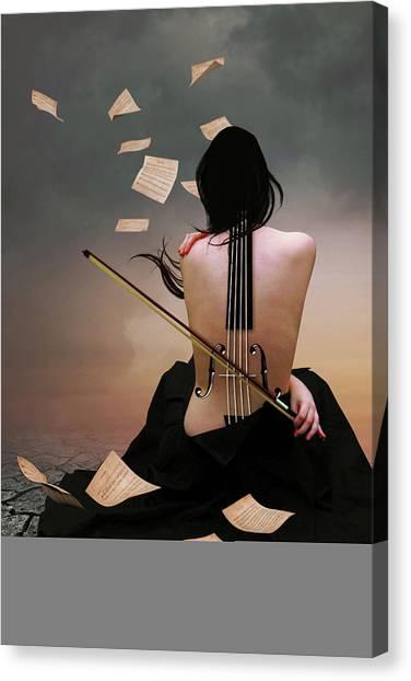 Violin Woman Canvas Print