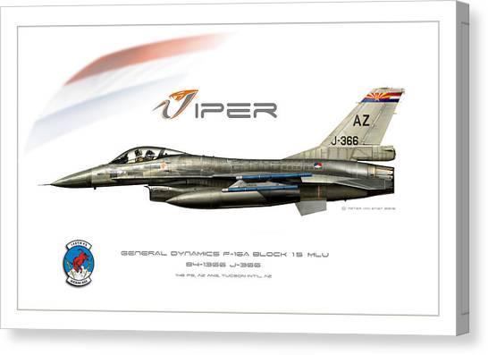 Sidewinders Canvas Print - Viper Single Rnlaf Azang Profile by Peter Van Stigt