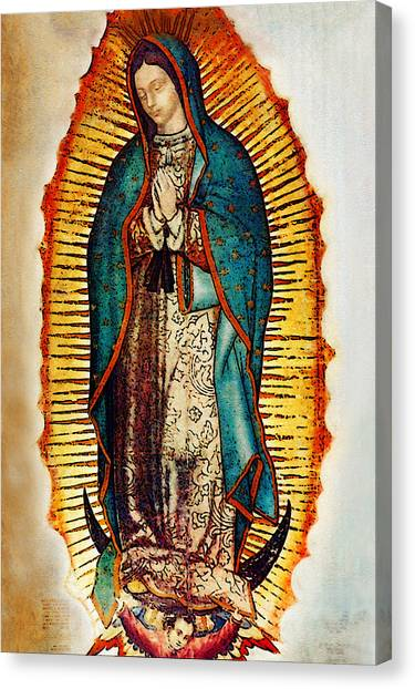 Mary Canvas Print - Virgen De Guadalupe by Bibi Rojas