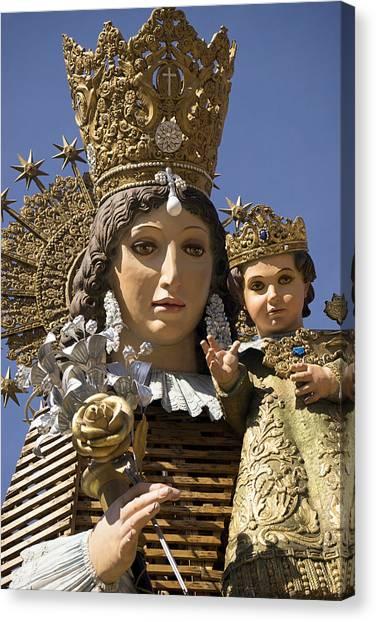 Virgen De Los Desamparados Canvas Print