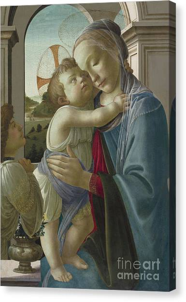 Botticelli Canvas Print - Virgin And Child With An Angel by Botticelli
