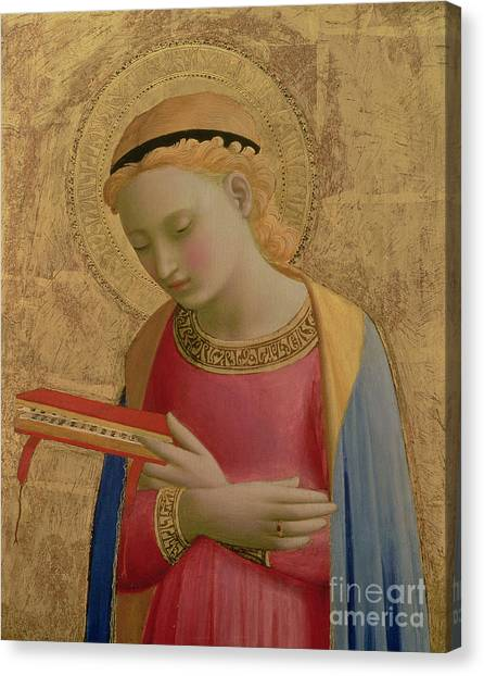 Holy Bible Canvas Print - Virgin Annunciate by Fra Angelico