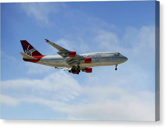 Airlines Canvas Print - Virgin Atlantic Boeing 747-443 by Smart Aviation
