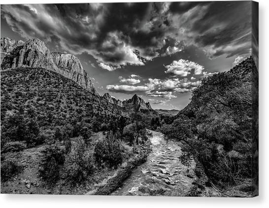 Virgin River Bw1 Canvas Print by Don Risi