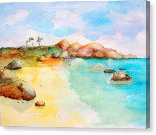 Virgin Rocks Canvas Print